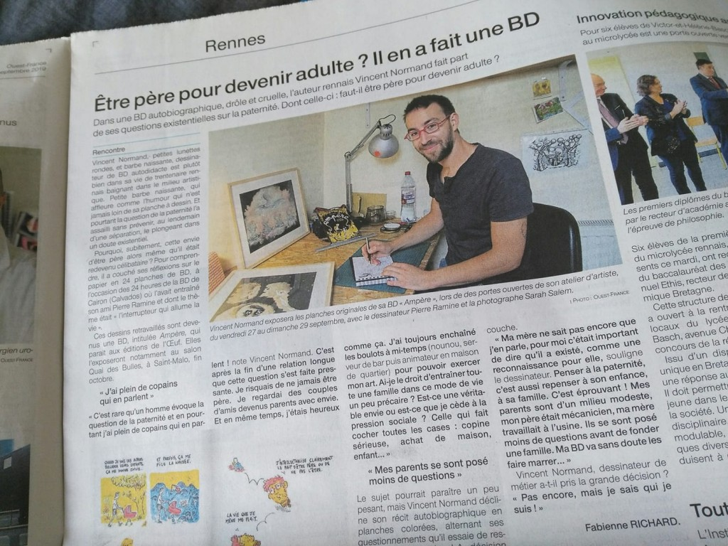 Article Ouest France BD Vincent Normand